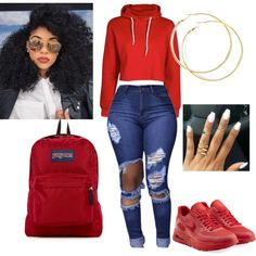Designer Clothes, Shoes & Bags for Women Swag Outfits For Girls, Teenage Girl Outfits, Cute Swag Outfits, Teenager Outfits, Dope Outfits, Teen Fashion Outfits, Chic Outfits, Trendy Outfits, Fall Outfits