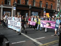Street Protest, Dublin, Ireland, September 2016. Interesting. Never saw Sooo many people in a protest before.
