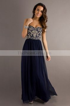 Hot Selling Prom Dresses Sweetheart A Line Floor Length With Beads - Petite Size Prom - Shop Prom