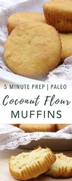 Essential Coconut Flour Muffins - kinda like cornbread Zucchini Muffins, Coconut Flour Muffins, Muffins Blueberry, Coconut Flour Recipes, Paleo Recipes, Low Carb Recipes, Bread Recipes, Whole Food Recipes, Cooking Recipes