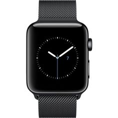 APPLE Series 2 space black stainless steel 42mm Apple Watch ($870) ❤ liked on Polyvore featuring jewelry, watches, heart-shaped watches, stainless steel watches, heart jewellery, digital wristwatch and heart-shaped jewelry