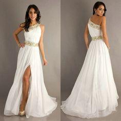 precio de venta al por mayor un hombro abalorios oro para siempre el amor de fiesta por la noche blanca 2013 vestidos