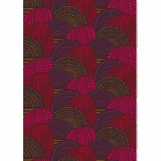 Marimekko Vuorilaakso Plum / Red Fabric The Marimekko Vuorilaakso (Mountain Valley) Plum / Red Fabric brings a beautiful landscape to your table, walls and more with it's warm tones and fluid lines. Marimekko Fabric, Red Sofa, Modern Fabric, Red Fabric, Textures Patterns, Beautiful Landscapes, Plum, Finland, How To Make