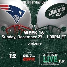 SPORTS And More: @NFL @NYJets vs @NewEngland @Patriots 1pm ch 2 - 9...