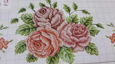 Cross Stitch Borders, Cross Stitch Rose, Cross Stitch Flowers, Cross Stitch Patterns, Teapot Cover, Yarn Shop, Easy Crochet Patterns, Vintage Patterns, Embroidery Stitches