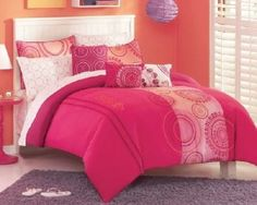 pink teen bedding
