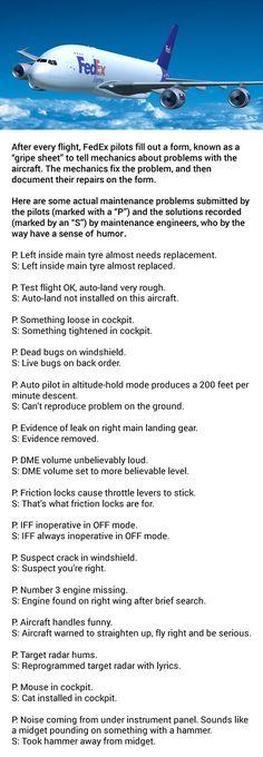 FedEx employs some funny aircraft mechanics