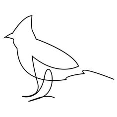 One Line Bird Art Print by addillum - X-Small Small Cardinal Tattoo, Cardinal Bird Tattoos, Small Bird Tattoos, Tiny Tattoo, Oma Tattoos, Wrist Tattoos, Future Tattoos, Body Art Tattoos, Arrow Tattoos