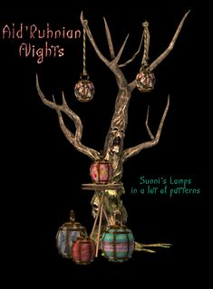 """siofrasims:"""" I've always loved the Dunmer aesthetic, so I was so happy to find these lamps. I slapped 26 colorful fabrics on them. Sunni's wonderful meshes included, as is the swatch. Medieval Fantasy, Elder Scrolls, Sims 2, Swatch, Lamps, Fabrics, Colorful, Lights, Christmas Ornaments"""