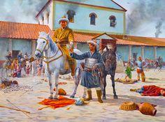 Los hunos de Atila saquean Aquilea en la primavera del 452, cortesía de Steve Noon. Más en http://www.elgrancapitan.org/foro/viewtopic.php?f=87&t=16979&p=868960#p868960