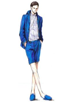 Men's Wear Designer Inspirations: Spring 2013 Mens Fashion Summer Outfits, Men Fashion Show, Men's Fashion, Fashion Design, Fashion Illustration Dresses, Fashion Sketches, Fashion Illustrations, Mens Fashion Sweaters, Illustration Mode