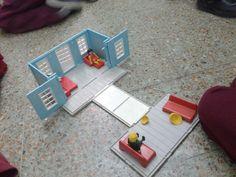El banco de los #playmobil funciona como casa