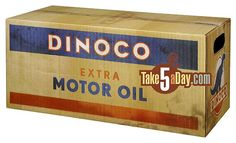Dinoco Extra Motor Oil Box for a DIsney Cars Bday party