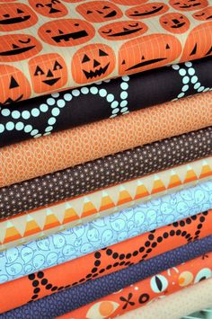 Cute Halloween Fabrics, If you are making a Halloween quilt!
