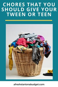 To raise good adults we need to teach them to be responsible. Here are a few chores that you should give your tween or teen to teach them responsibility. Raising Teenagers, Parenting Teenagers, Parenting Issues, Parenting Hacks, Organization Hacks, Organizing, Bathroom Storage Solutions, Laundry Tips, Kids Growing Up