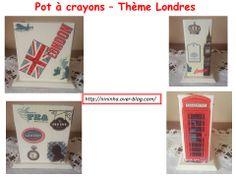 Pot à crayons sur le thème de Londres.