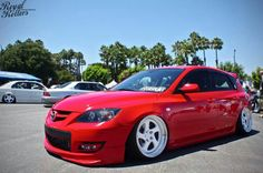Lowered Mazda 3 hatchback