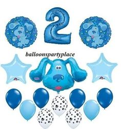 Blues Clues Balloons Party Supplies Decoration Birthday Second 2nd Two Paw Print | eBay