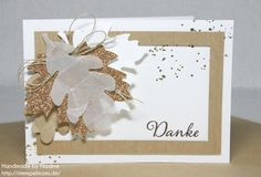 Stampin Up - Dankeskarte - Karte -  Grusskarte - Greeting Card - Thank You Card - Herbst - Autumn - Bigz Herbstzauber - Big Shot ☆ Stempelmami