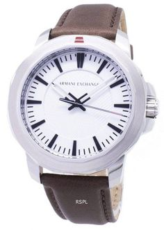 Features: Stainless Steel Case Leather Strap Quartz Movement Mineral Crystal Silver/White Textured Dial Analog Display Pull/Push Crown Solid Case Back Buckle Clasp Water Resistance Approximate Case Diameter: 44 x Approximate Case Thickness: Seiko 5 Sports Automatic, Seiko Automatic, Armani Watches For Men, Watch Model, Modern Man, Stainless Steel Case, Quartz, Crystals, Silver