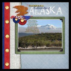 Disney Alaska Cruise scrapbook page by Sharon Albright using Classic Patriotism by Capturing Magical Memories #DisneyScrapbooking #DisneyMemories