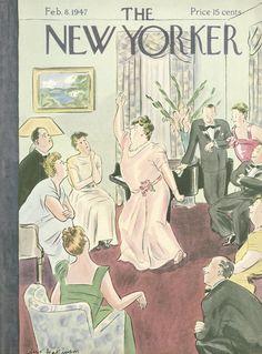 Helen E. Hokinson : Cover art for The New Yorker 1147 - 8 February 1947