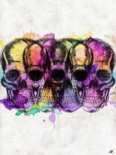 Color Pastel Goth Anime, Wallpaper Caveira, Totenkopf Tattoos, Ouvrages D'art, Art Et Illustration, Foto Art, Skull Print, Skull And Bones, Art Drawings