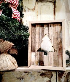 Original Reclaimed Wood Christmas Tree Rustic Cutout