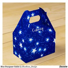 Blue Stargazer Gable Favor Box Christmas Favors, Christmas Card Holders, Holiday Cards, Christmas Cards, Stargazer, Favor Boxes, Hand Sanitizer, Colorful Backgrounds, Card Stock
