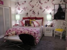 Spruce up your room with cool wallpaper on just one wall! Get this same look with wallpaper from Trove | Pretty Little Liars