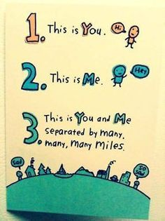 """3. this is you and me seperated by many miles """"Love you, your in my Heart no matter where you are"""""""