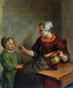 Mother and Child, painted: 1626–1679 by Jan Steen York Museums Trust