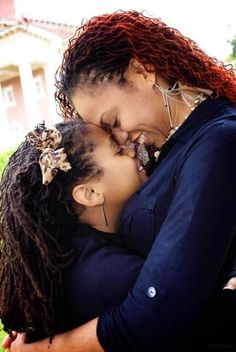 Does your whole family have locs like this mother and daughter?