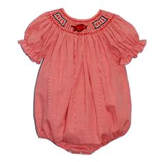 University of Arkansas Smocked Girl Bubble from Smocked Auctions