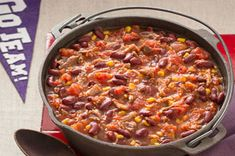 Pulled Pork Halftime Chili Recipe - Kraft Recipes