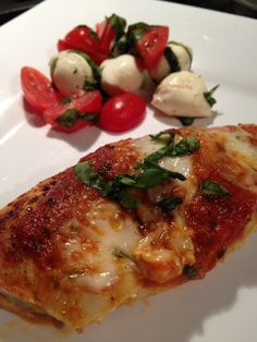 half tomato, half potato: Healthy Chicken Parmesan & Side Caprese Salad
