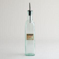 Green Glass Sienna Oil Bottle | World Market