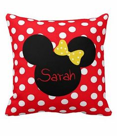 Personalized Minnie Mouse Pillow Minnie Mouse von MamaGooseBoutique, $32.99