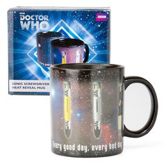 Doctor Who Sonic Screwdriver 12oz Heat Reveal Mug