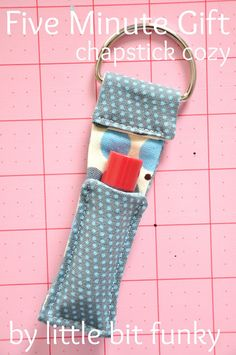 20 minute crafter - chapstick cozy - {five minute edition} Could we make these at camp with duct tape? To hang from their lanyards (sp?)?