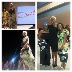 @MiamiFashionWk feat #AnkaraMiami2013 model, @Adoch (#Uganda)... Pictured w/ #African Designers Showcase designer, #WumiO and #AnkaraMiami's Sandra & @EvelynO11. Great job! - cc: @MiamiFashionWeek #MFW2013 #MiamiFashionWeek #AnkaraMiami