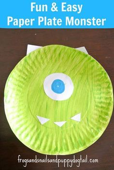 Paper Plate Monsters Craft10  Easy and Fun Toddler Arts and CraftsArt and Craft Supplies and Products for Toddlers
