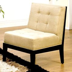 Dupont Armless Chair Taupe now featured on Fab.  Armen Living  Classic, Retro-Styled Furniture
