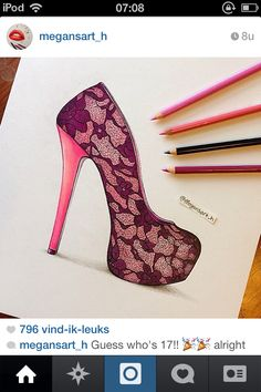 Drawing shoe lace