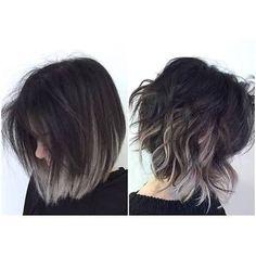 Resultado de imagen para black to grey ombre hair