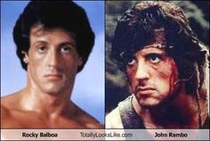 Rocky Balboa Totally Looks Like John Rambo. Man that is a weird coincidence... lmao
