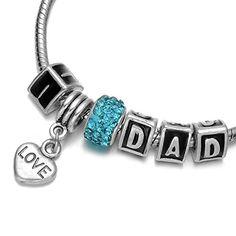 """Onnea® """"I Love Dad"""" Letters Rhinestone Heart Pendant Charms Bracelet for Girls Onnea http://www.amazon.com/dp/B011XFB2UW/ref=cm_sw_r_pi_dp_ZQnbxb1MHW9KX"""