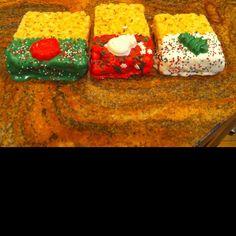 Rice krispy treats Christmas fun