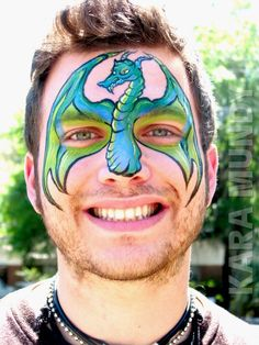Face Paint Winged Dragon Mask
