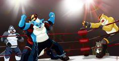 Wrestling match!